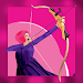 Girls archery 2D icon