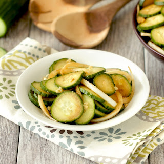 Mmmmm Marinated Cucumber Salad.