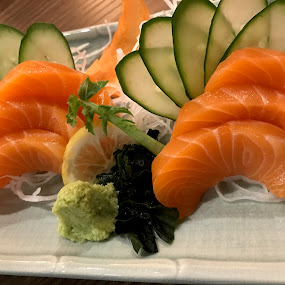 Raw Salmon by Beh Heng Long - Food & Drink Plated Food ( japanese food )
