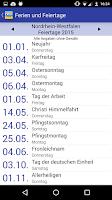 Screenshot of Deutsche Feiertage & Ferien