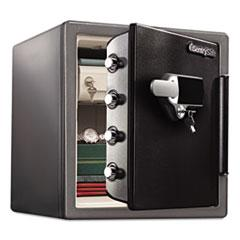 Sentry Safe SFW123UDC: Fire-Safe 1.23 Ft3 Touchscreen with alarm, 16 3/8 x 19 3/8x17 7/8, Gunmetal Gray / blk