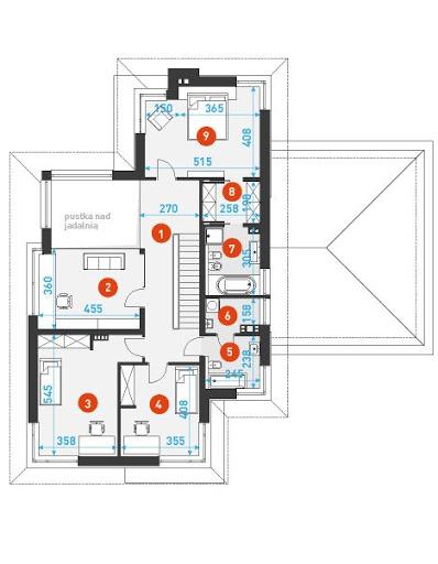 Z Klasą 3 - Rzut piętra - wymiary szczegółowe
