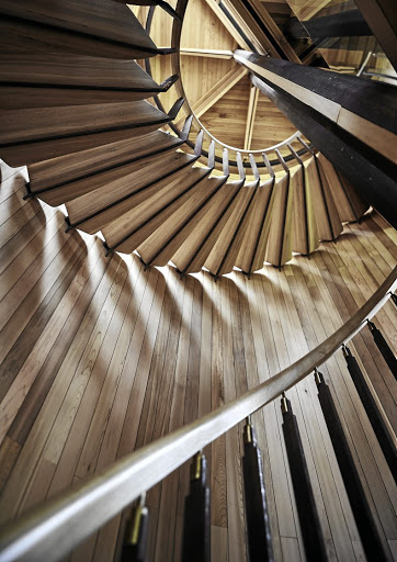 The architects consider the staircase to be one of their major achievements in the design of the tree house.
