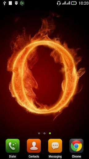 Fiery letter O LWP