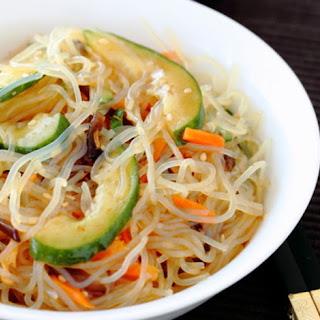 Spicy Shirataki Noodle Salad.