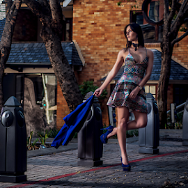 Miss CB by Gerrit de Graaff - People Fashion ( photooftheday, dress, beauty, sexy, heels, nikon, beautiful, brunette, dresses, location, fashion photography, photography, fashion )