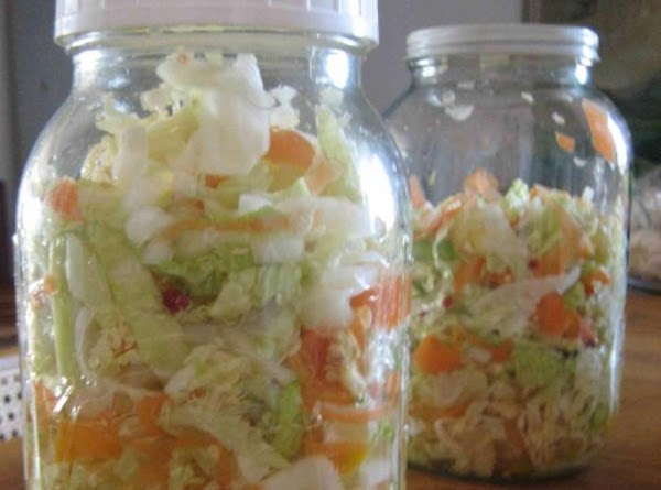 Close jar tightly and let sit at least 24-48 hours before serving.
