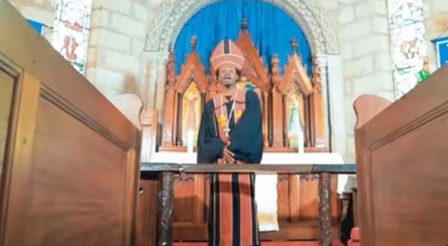 Bahati in clergy attire
