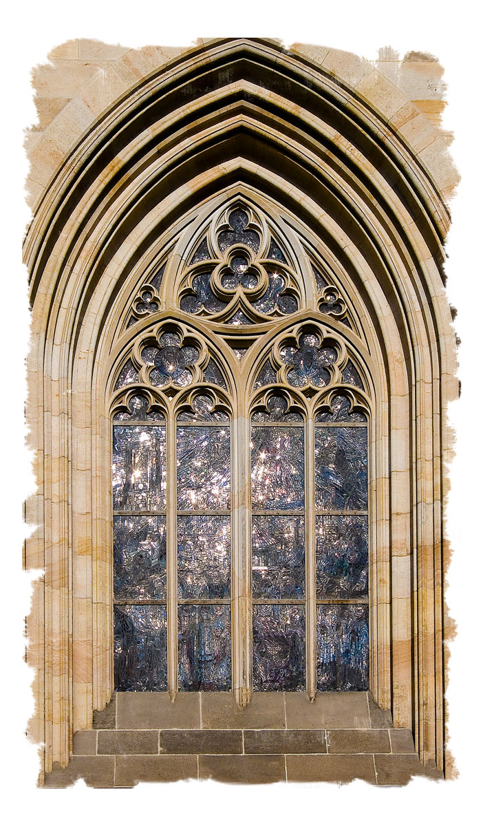 Photo: St. Vitus Cathedral Window - February 2008