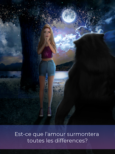 Code Triche Romance Loup Garou - Jeu d'amour interactif APK Mod screenshots 1