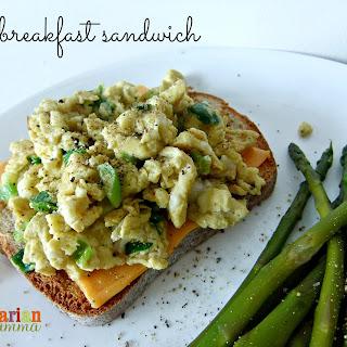 Easy Open Face Breakfast Sandwich – #glutenfree.