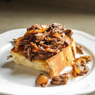 Hot Beef Sandwich.