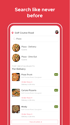 Zomato - Restaurant Finder and Food Delivery Appのおすすめ画像4