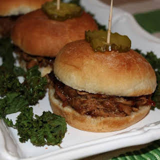 Root Beer Sliders and Kale Chips.