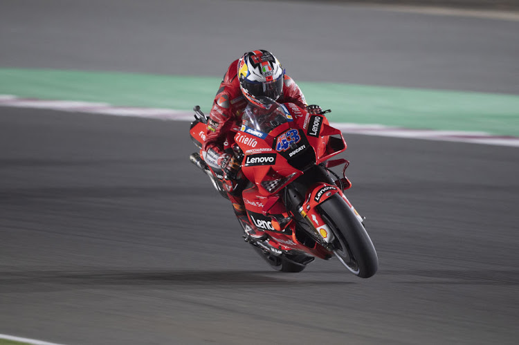 Jack Miller of Australia and Ducati Lenovo Team during the MotoGP race of Qatar on April 4 2021.