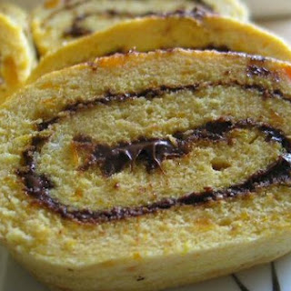 Pumpkin Nutella Swiss Rolls