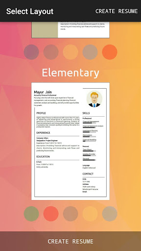 rocket resume builder apps apk free for android