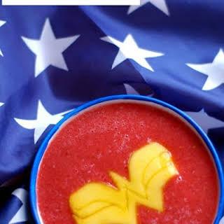 Wonder Woman Watermelon Soup.