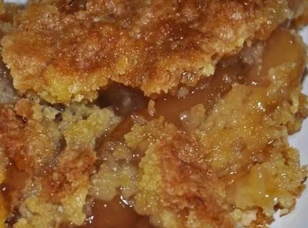 Caramel Apple Dump Cake Recipe With 4 Ingredients ~