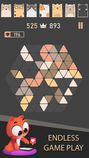 Trigon : Triangle Block Puzzle Game 1.8.3 gameplay | by HackJr.Pw 4