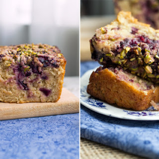 Eggless Cherry and Pistachio Bread.