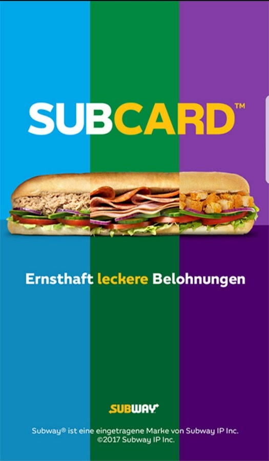 SUBWAY® SUBCARD™ Deutschland- screenshot