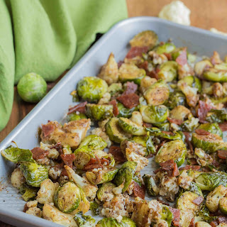 Brussels Sprouts with Bacon and Cauliflower