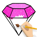 Diamond Coloring and Drawing for kids 2 icon