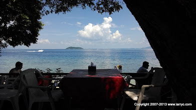 Photo: Our lunch view.