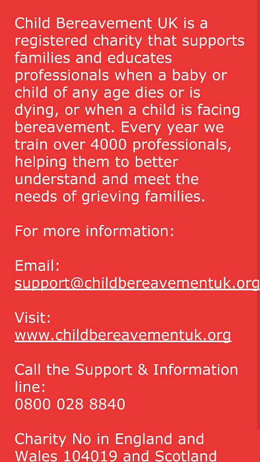 Grief Support for Young People- screenshot