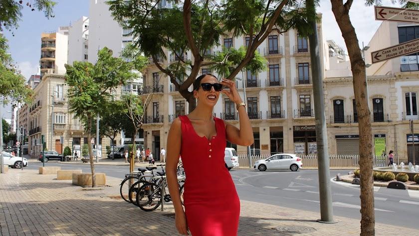 La modelo e influencer almeriense Lucía Abascal en su entrevista.