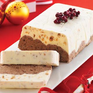Chocolate and Hazelnut Ice Cream Cake.