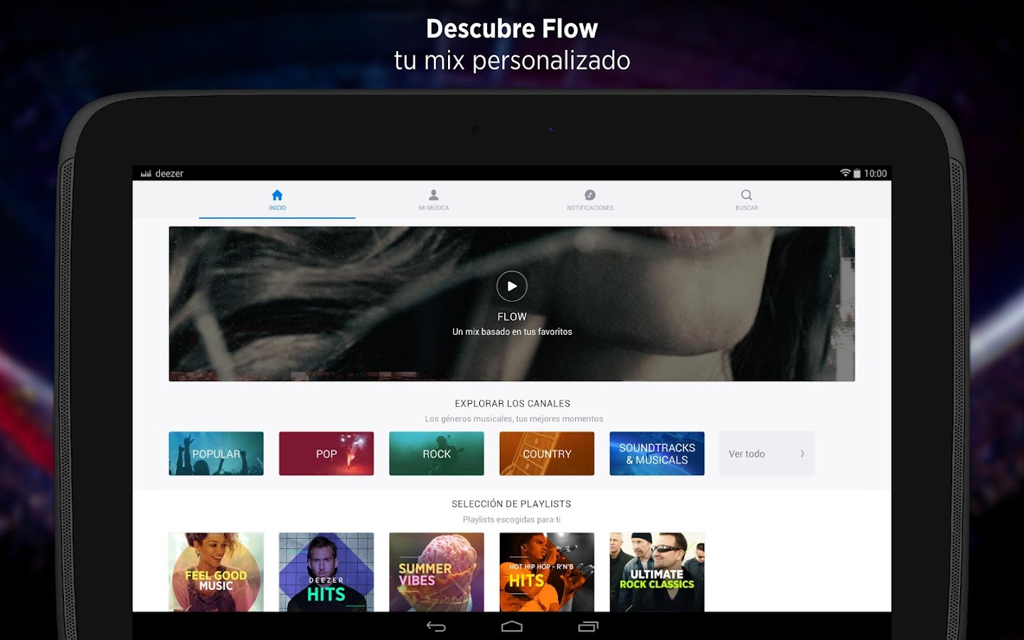 Deezer Music: captura de pantalla