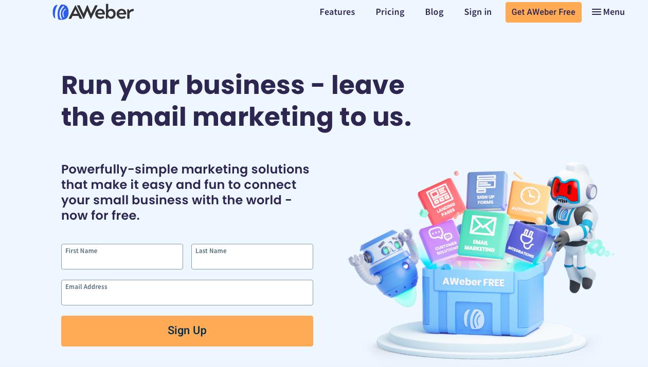 AWeber ecommerce email marketing software