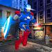 Superhero iron robot fight captain 3D icon