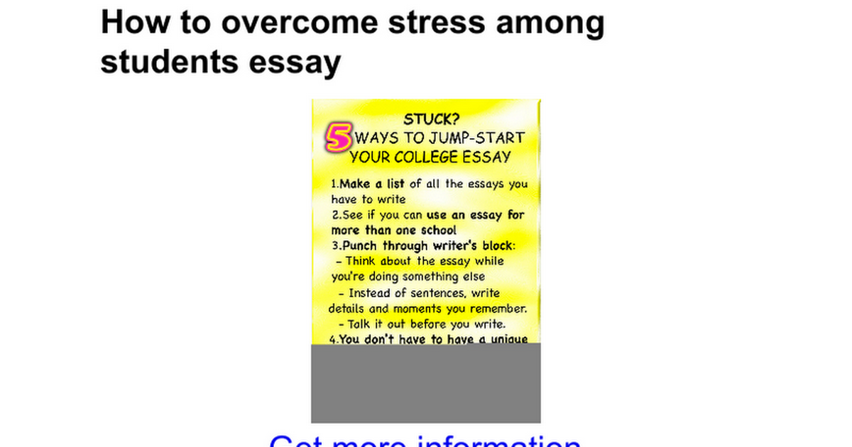 how to overcome stress among students essay google docs