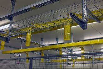 Photo: Passage de câbles - Salle 1 du #datacenter #reims (Visite de chantier 20.11.2014)