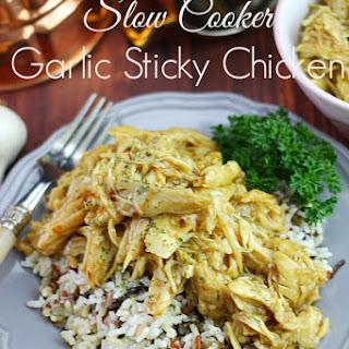 Slow Cooker Garlic Sticky Chicken