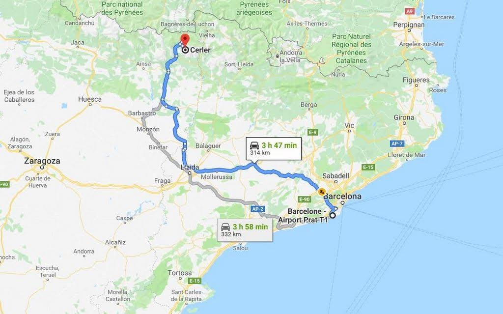 Ruta Barcelona - Cerler