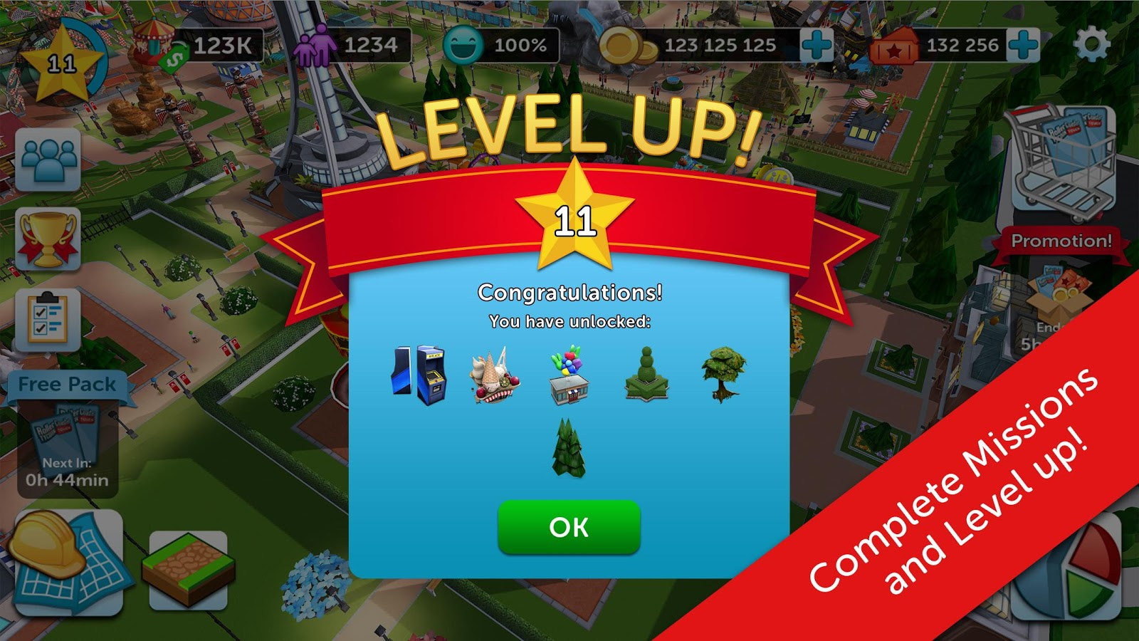 RollerCoaster Tycoon Touch- screenshot