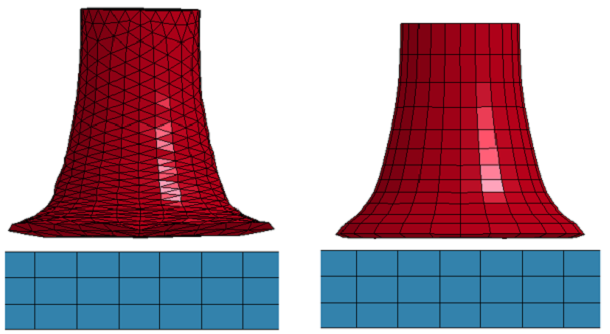 ANSYS Моделирование «теста Тейлора» с различной сеткой конечных элементов