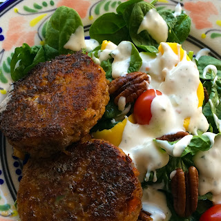 Five Minute Crab Cake Salad.