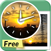 Analog Photo Clock Widget Free