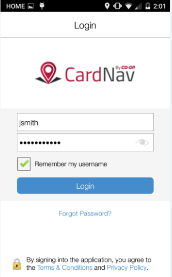 CardNav- screenshot
