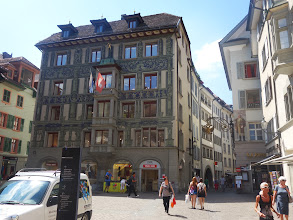 Photo: fasády domů v Luzernu