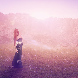 The Serenity... by Ilkgul Caylak - Digital Art People ( nature, photoshop, girl )