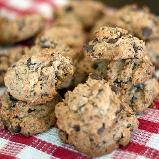 Oatmeal Peanut Butter and Chocolate Chip Cookies.