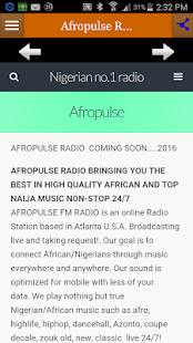 Afropulse Radio- screenshot thumbnail