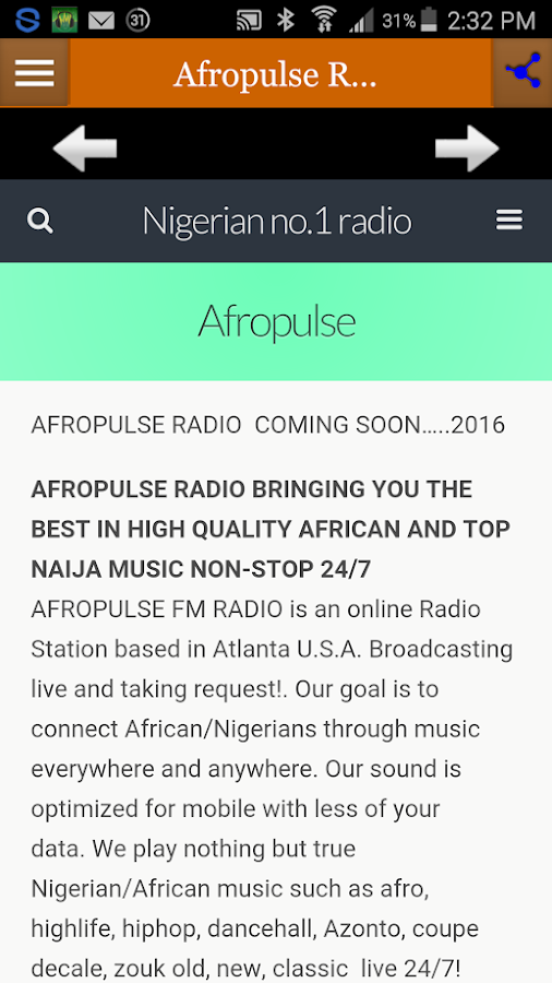 Afropulse Radio- screenshot