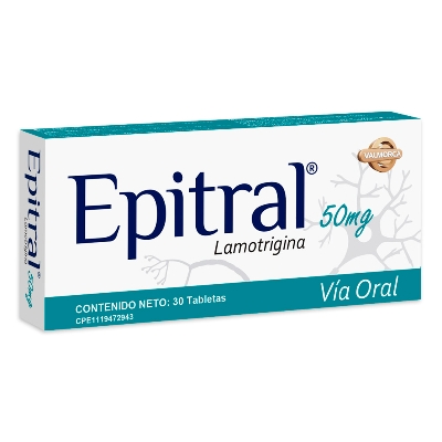 Lamotrigina Epitral 50 mg x 30 Tabletas